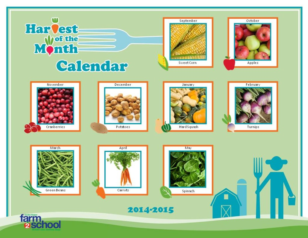 Harvest of the Month Calendar 2014-2015