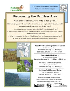 Driftless Area Flyer 4 Locations