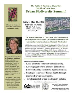 2016 Biodiversity Summit Flyer